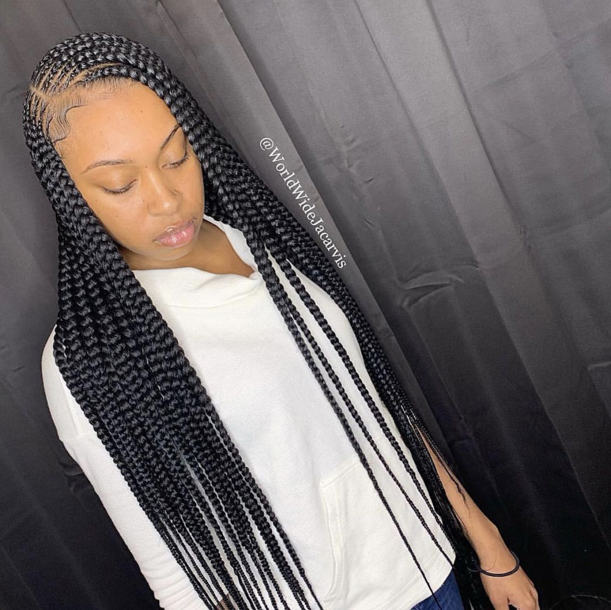 In Love W These Braids Strapless Dress Hairstyles Black Girl Braided Hairstyles African Braids Hairstyles