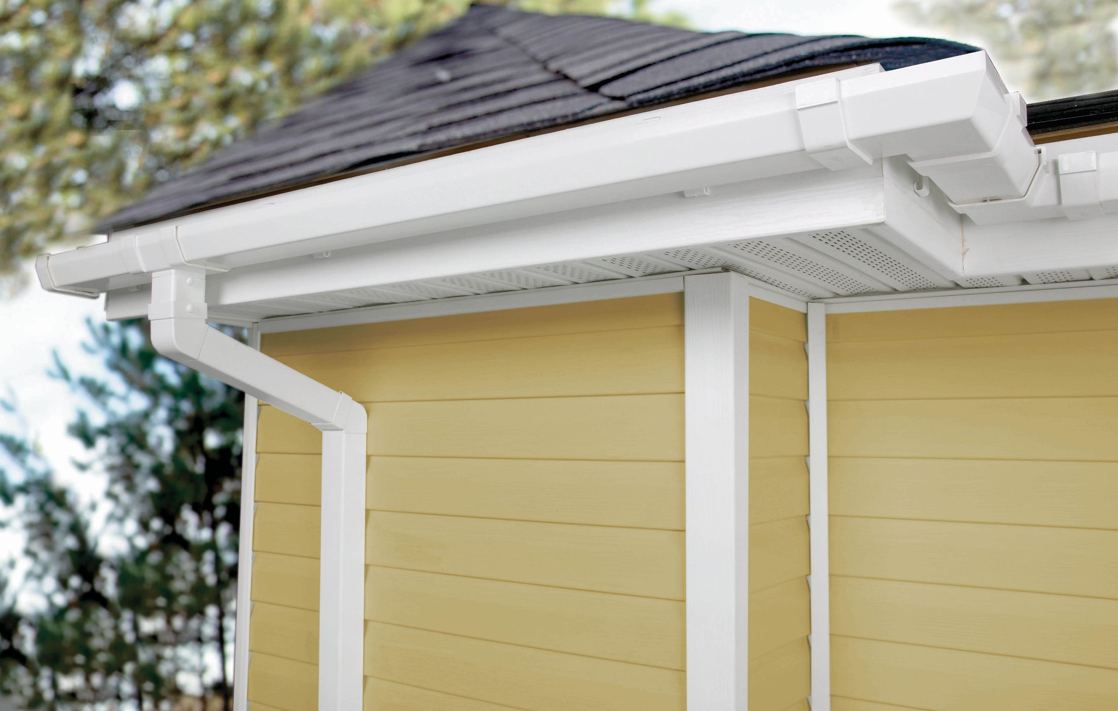 Vinyl Gutters Easy To Install And Less Costly Light Weight Lots Of Variety And Colors Vinyl Gutter Gutters Gutter