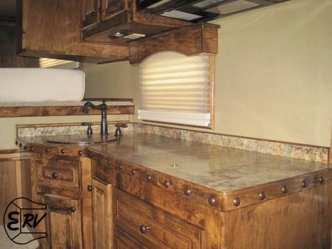 Captivating Studded Counter Top Idea Living Quarter Horse Trailer   2012 Slant Load 4 Horse  Trailer With Outlaw Conversion Living Quarters