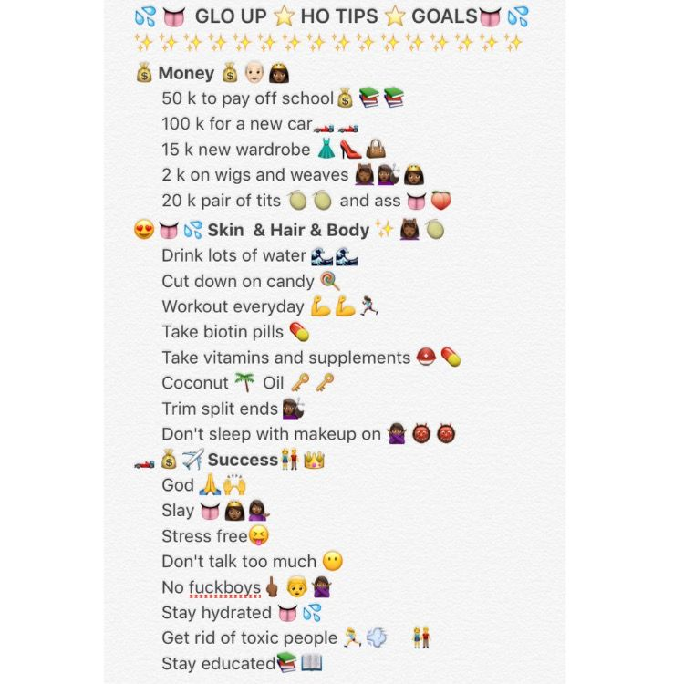 Hoe tips glo up goals money girls pinterest