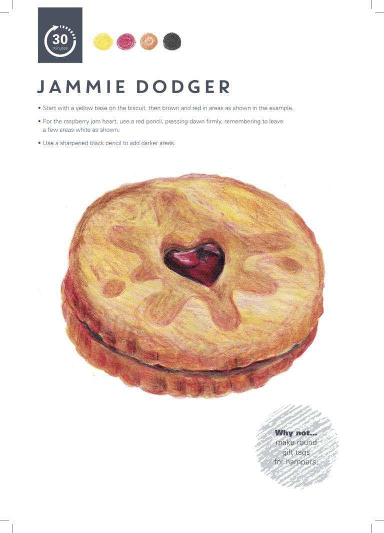 Jammy dodger drawing