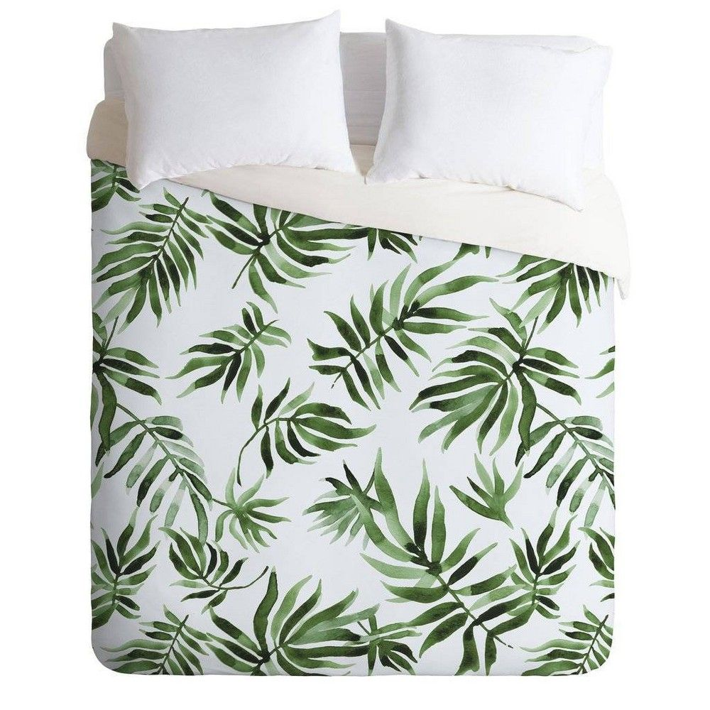 King Marta Barragan Camarasa Duvet Cover & Sham Set Green - Deny Designs