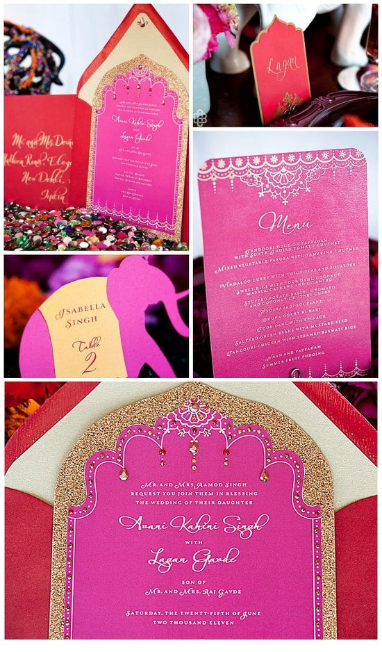 moroccan scroll wedding invitations%0A For Mo  bollywood wedding suite