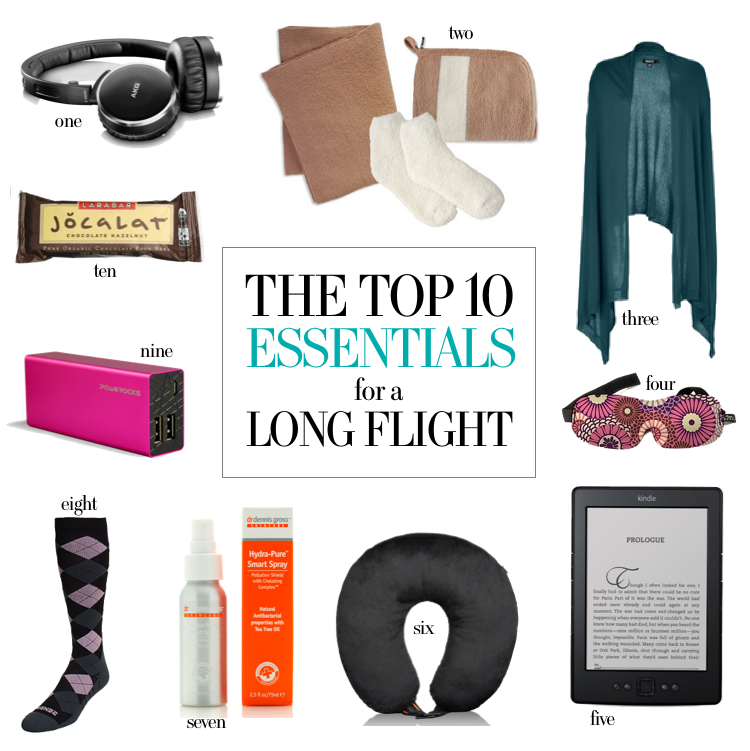 Travel Tips Packing Hacks Tips Essentials: 10 Essentials For Long Flights