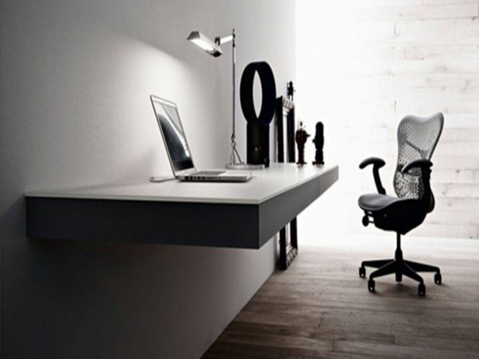 Luxury office furniture modern home minimalist minimalist home - Minimalist Home Office With Slim Desk Design Printing Stylish And Minimalist Home Office Design Ideas With