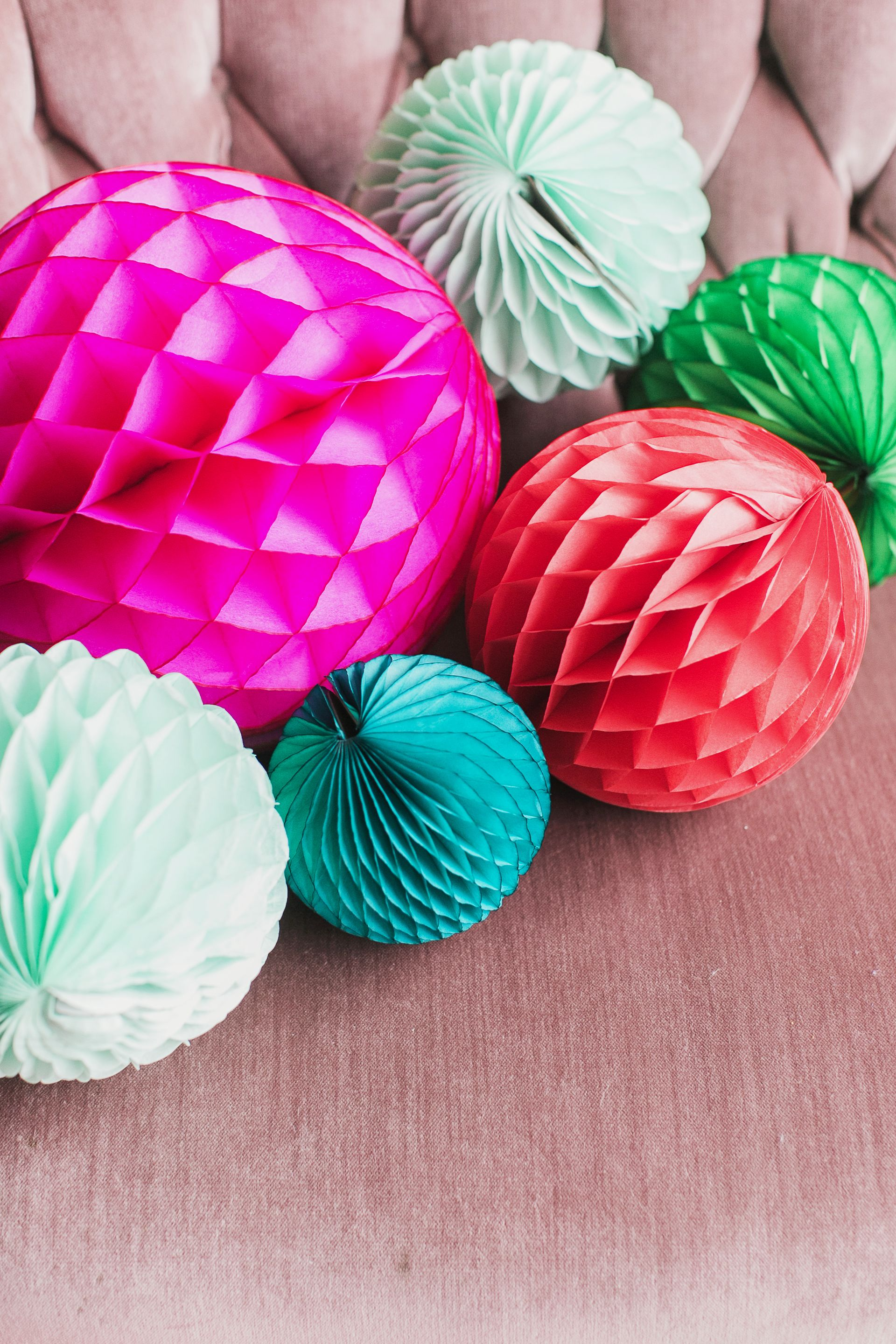 Honeycomb Balls By Devra Party Holly Jolly Pop Up 2014 Paper Decorations Tissue Paper Decorations Honeycomb Decorations