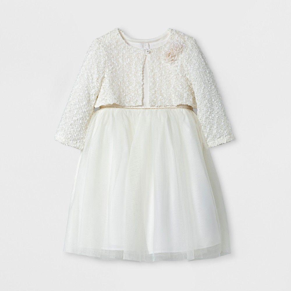Toddler Girls Novelty Jacket And Ballerina Mia Mimi Ivory 4t