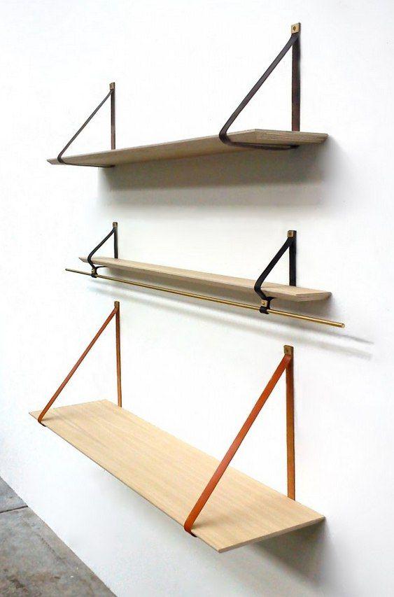 Como fazer três prateleiras móveis com mesa e vara para ganchos