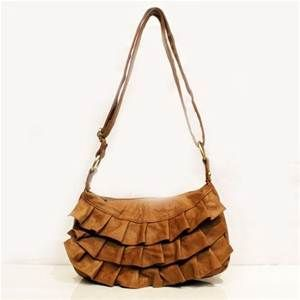 Ada G Leather Handbag Tan