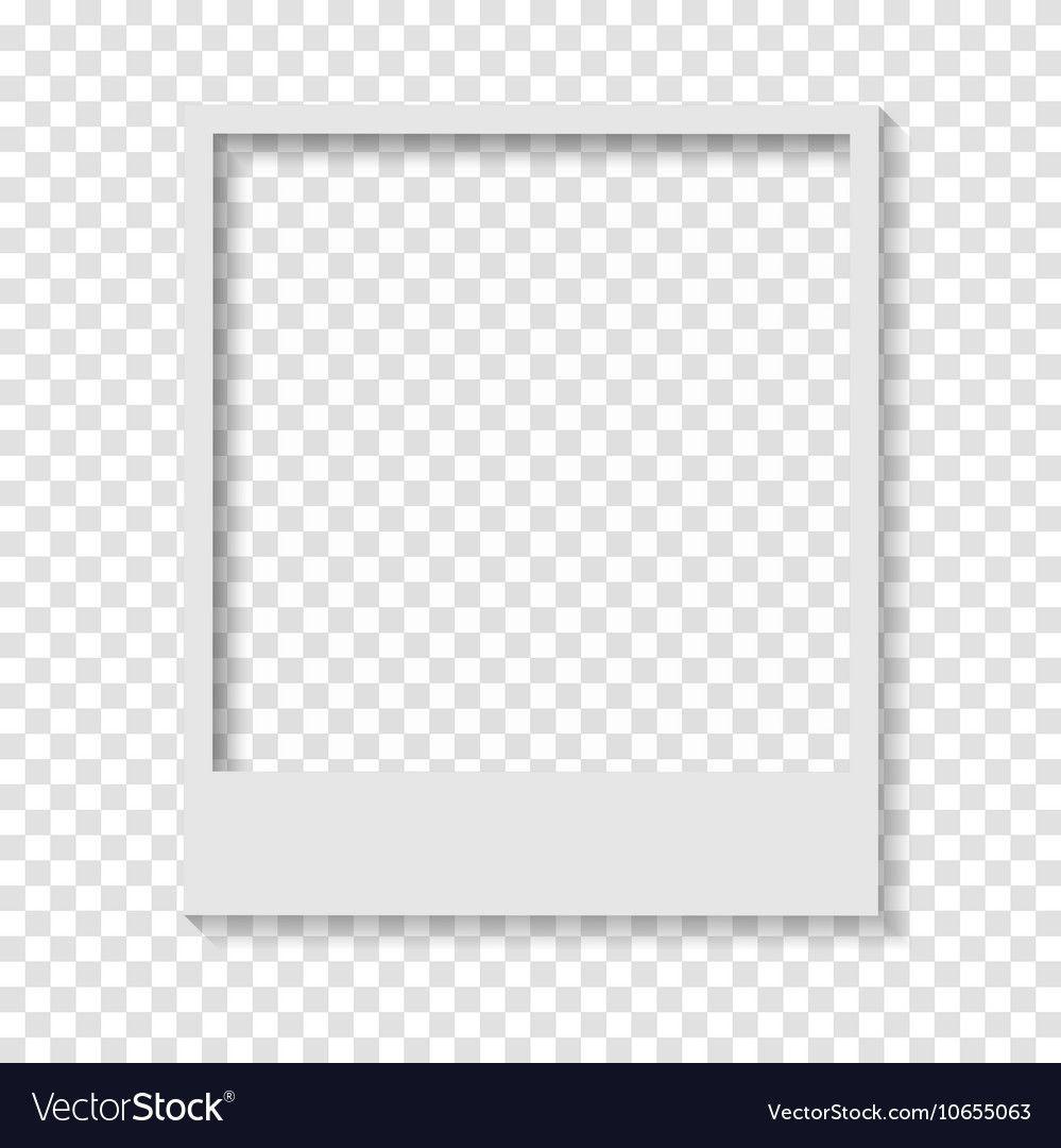 Blank Transparent Paper Polaroid Photo Frame Vector Image On