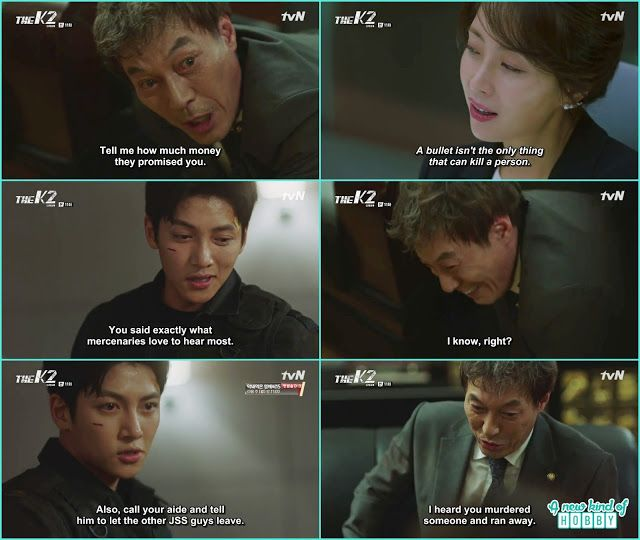 je ha remember choi yoo jin words how to kill a politician then politician kwang told he want to meet him in person as he knew je ha kill some refuge and ran - The K2 - Episode 11 (Eng Sub)
