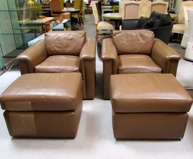 J. Robert Scott lounge chairs and ottomans.