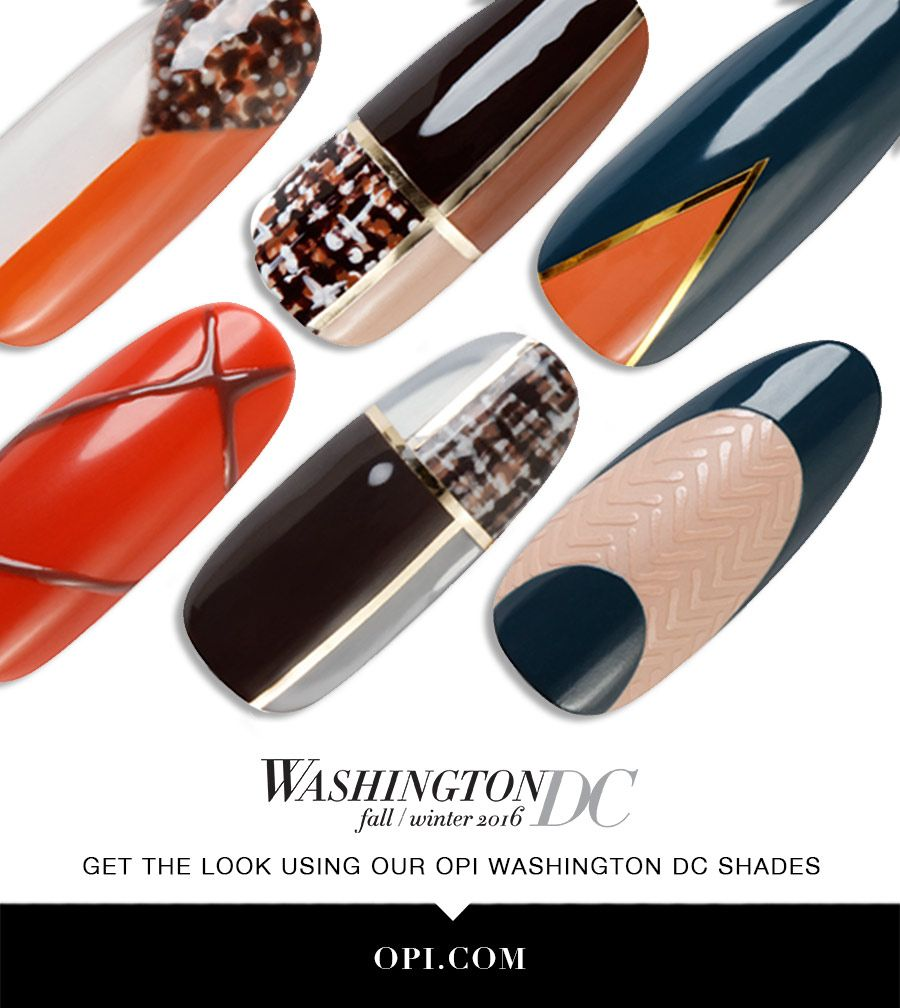 OPI Presents: Washington DC inspired Nail Art! The fall Washington ...