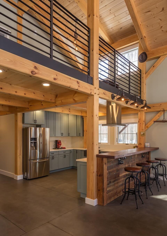 Spotlight Kayle Sickler Of Settlement Post Beam Timber Frame Hq Barn House Interior Barn Style House Barn House Plans