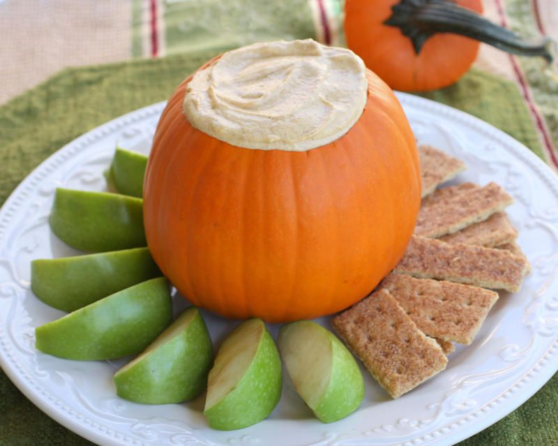 pumpkin dip and cute serving idea