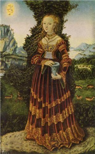 Portrait of a Saxon noblewomen as Mary Magdalene, 1525, Lucas Cranach the Elder, Saxony