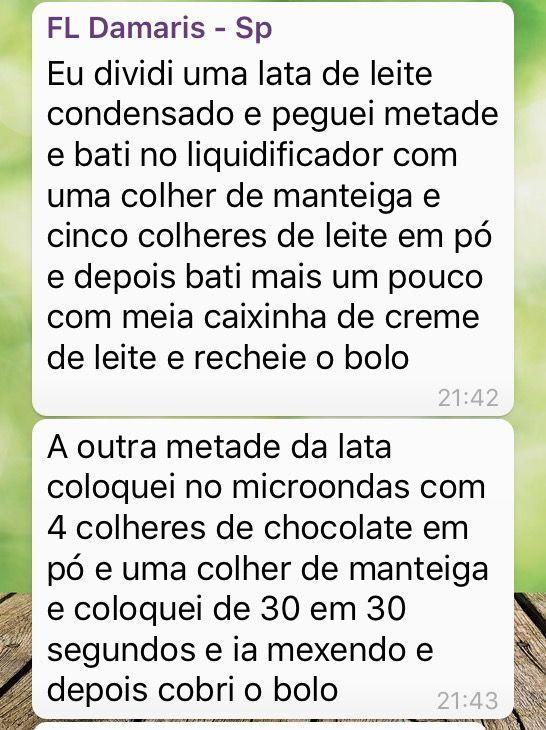 Bolo de chocolate - Damaris (cobertura)