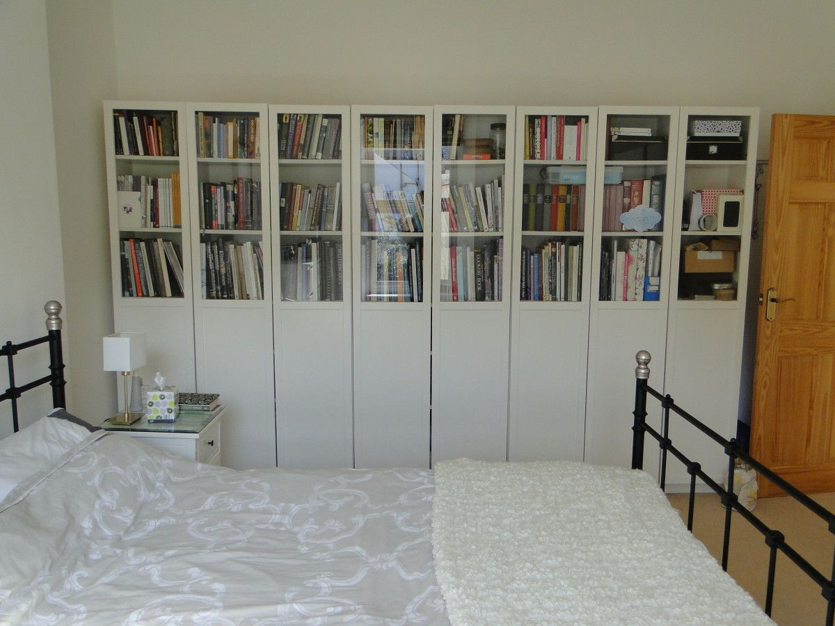 Styling the ikea billy bookcases oxberg glass doors interiors heres an idea to give the billy oxberg doors a bit of style when youre tired of seeing of the clutter behind the glass doors planetlyrics Images