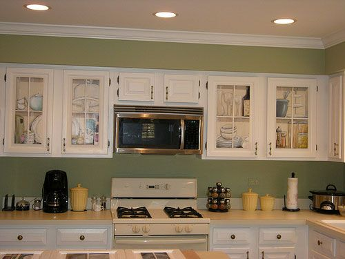 Kitchens Cream Cabinets Green Walls Phenomenal Painted