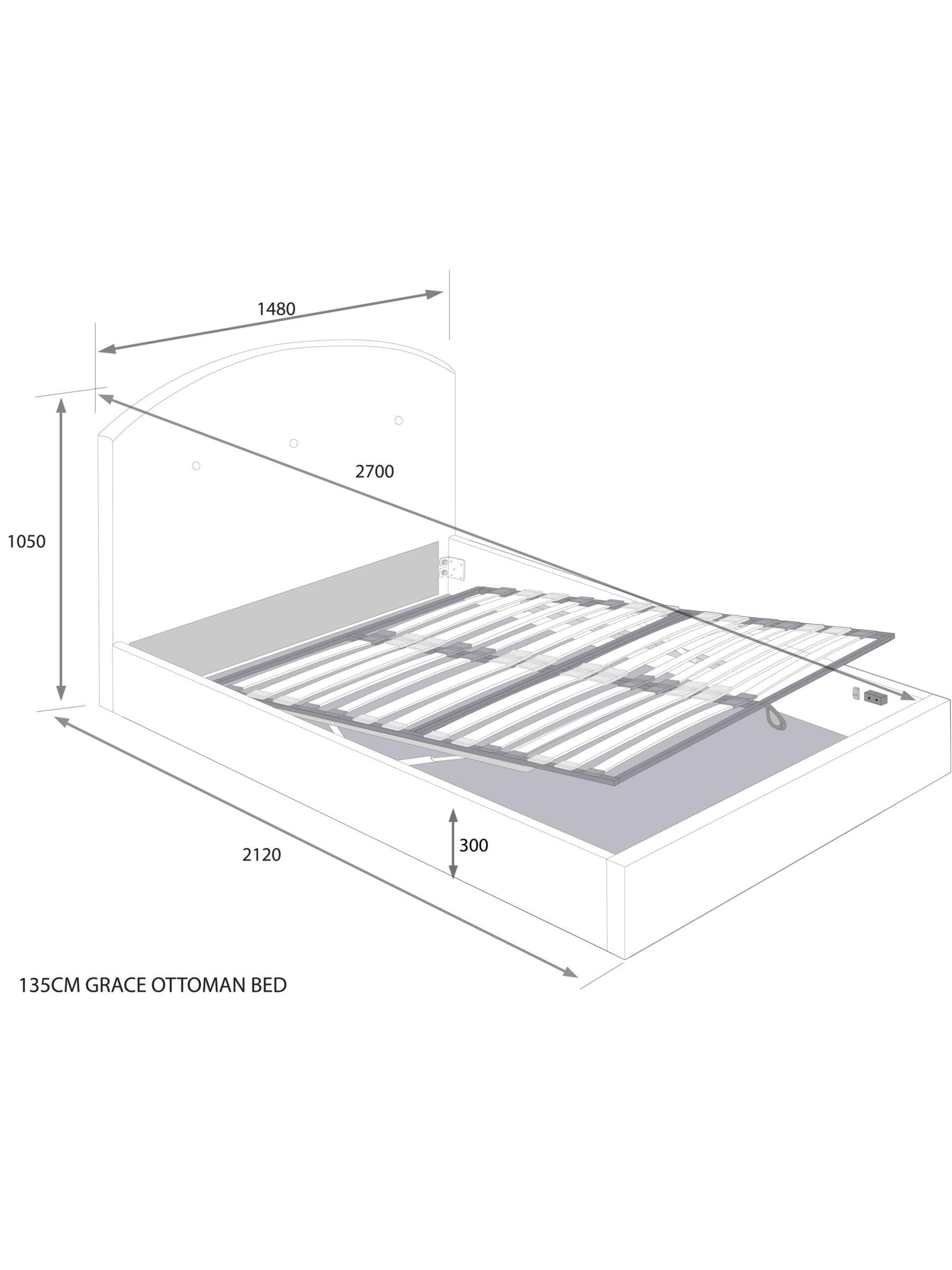 John Lewis Partners Grace Ottoman Storage Upholstered Bed Frame