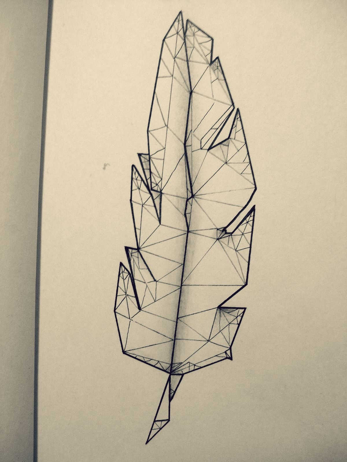 Feather, tattoo, low poly | Graphic | Pinterest | Feathers ...