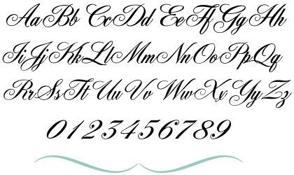 Fancy Cursive Alphabets