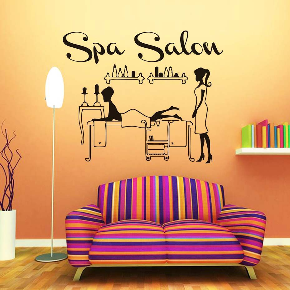 Spa Salon Shop Decals Man Doing Message Vinyl Wall Stickers Home ...