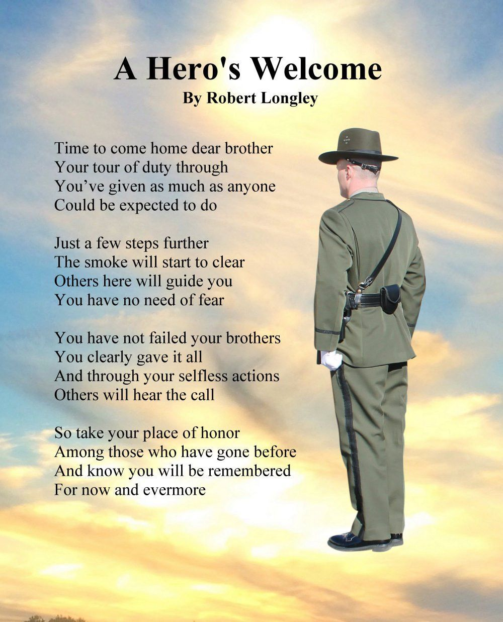 """A Hero's Welcome By Robert Longley Signed 11"""" 14"""" Print. A"""