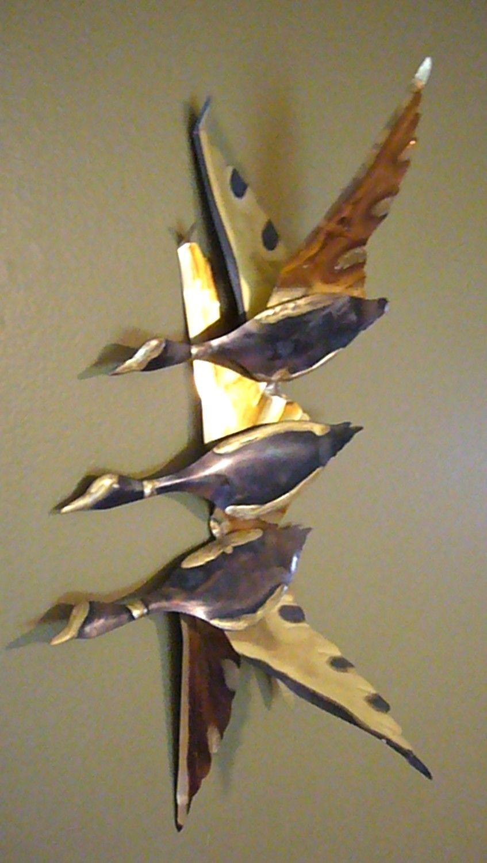 Vintage Metal Wall Art Birds C Jere Era Etsy Metal Bird Wall Art Vintage Metal Metal Wall Art