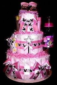 Amazon.com : Minnie Mouse Diaper Cake Pink Baby Shower Centerpiece or Gift By Little Kg Dreams : Everything Else