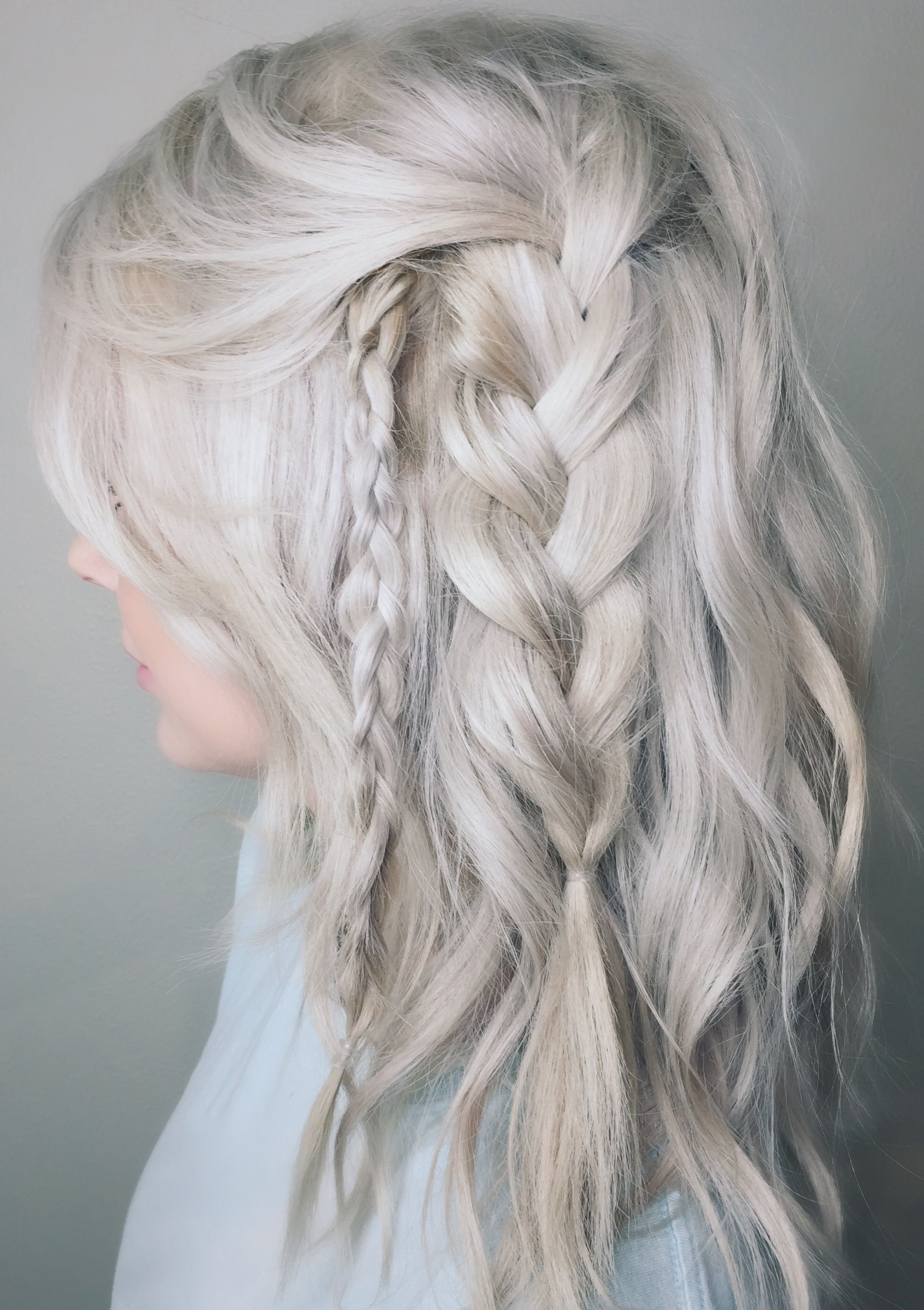Beachy Blonde With The Tousled Waved Braids By Kaylen O Hairstyle Hair Beauty Hair Styles
