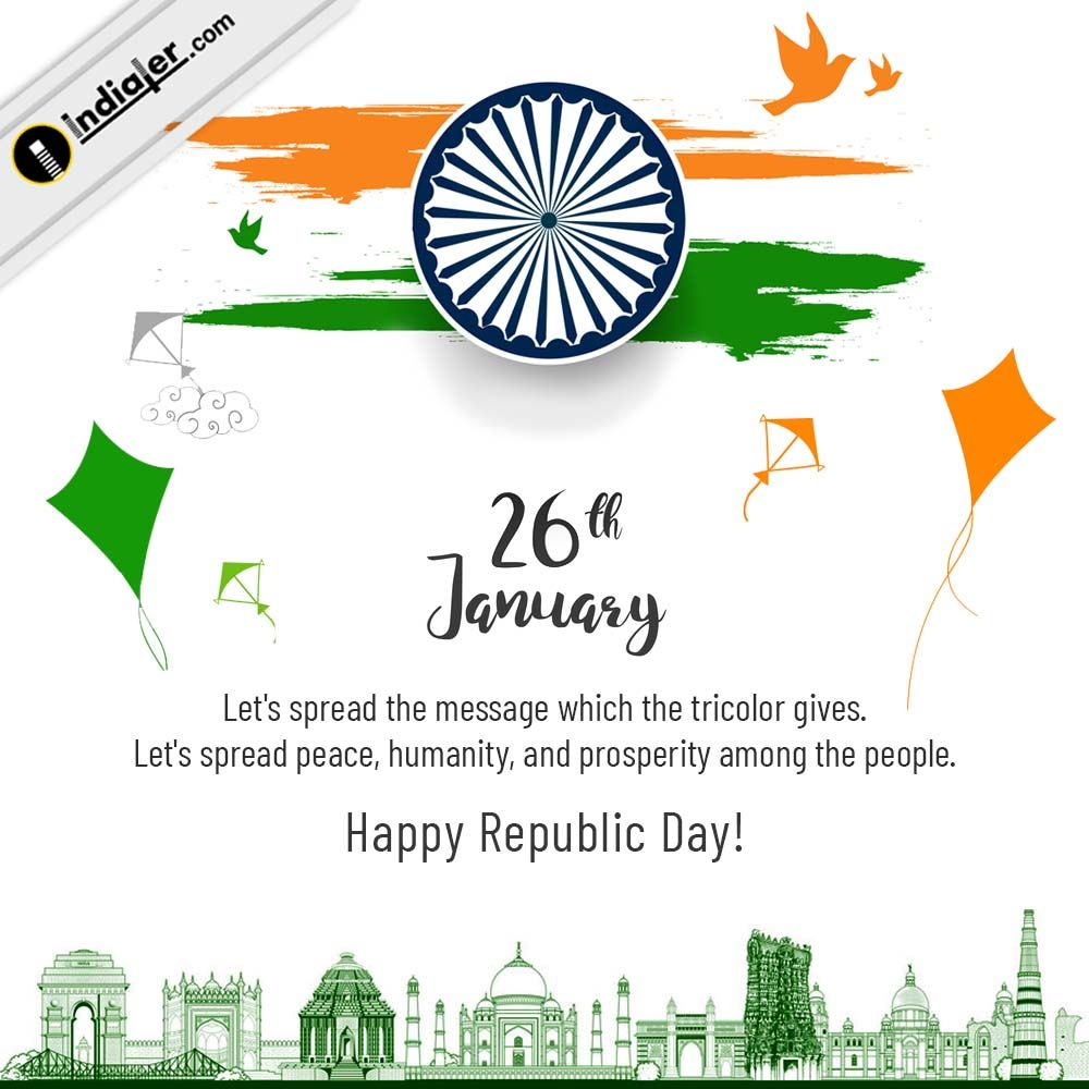 Republic Day 26 January Background With Beautiful Designs Quotes On Republic Day Republic Day India Republic Day Images 26 january 2021 images hd background