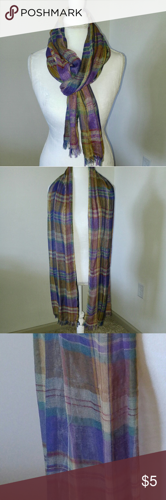 Plaid scarf Plaid scarf. Looks beautiful with a purple shirt. Accessories Scarves & Wraps