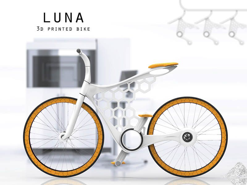 Conceptual 3d Printed Bike Luna Is Stylish And Practical Http