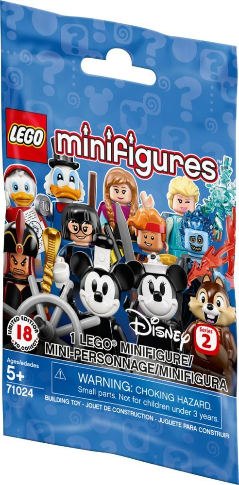 Lego Disney Minifigures Series 2-10 blind bags Brand new unopened
