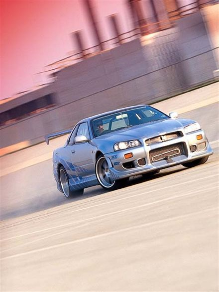 brian s r34 gt r skyline from 2 fast 2 furious the fast and the rh pinterest com