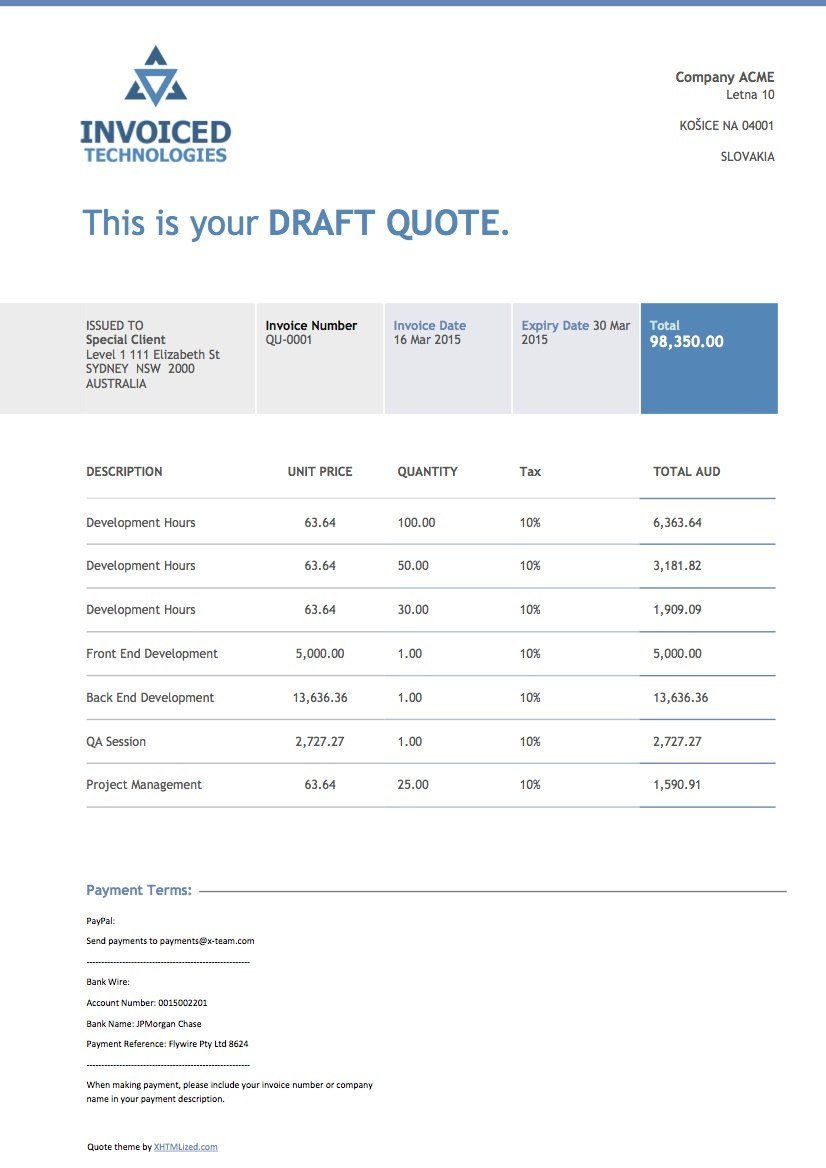 Xero Invoice Theme Invoiced Technology Invoicethemes Your With Xero Custom Invoice Template 10 Pro Invoice Template Budget Template Budget Template Free