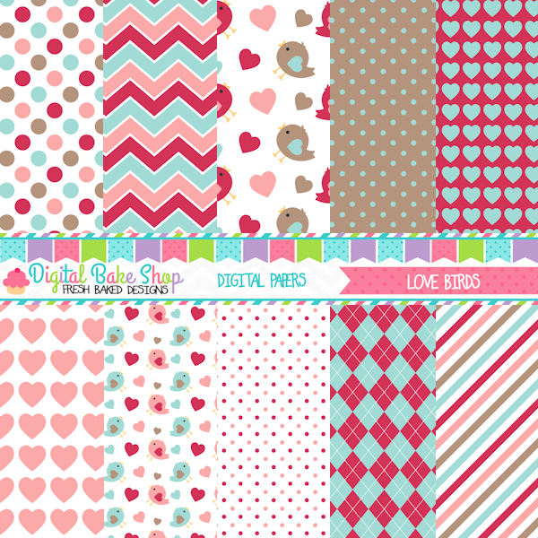 love birds valentine papers great for crafts scrapbooking and rh pinterest ch