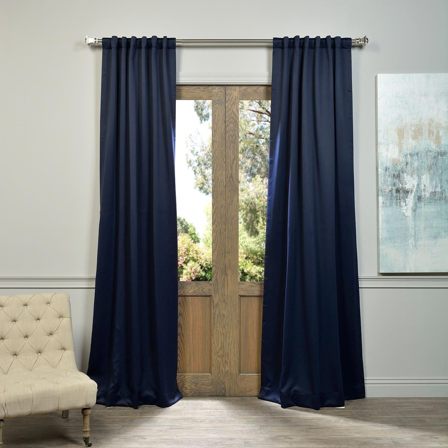 Exclusive Fabrics Eclipse Blue Thermal Blackout Curtain