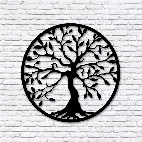 Tree Of Life Wall Decor Wood Wall Art Tree Wood Art Minimalist