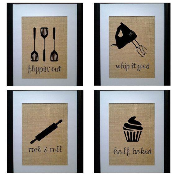 Delightful Pick 5 Kitchen Wall Decor, Kitchen Sign, Kitchen Art, Kitchen Wall Art,