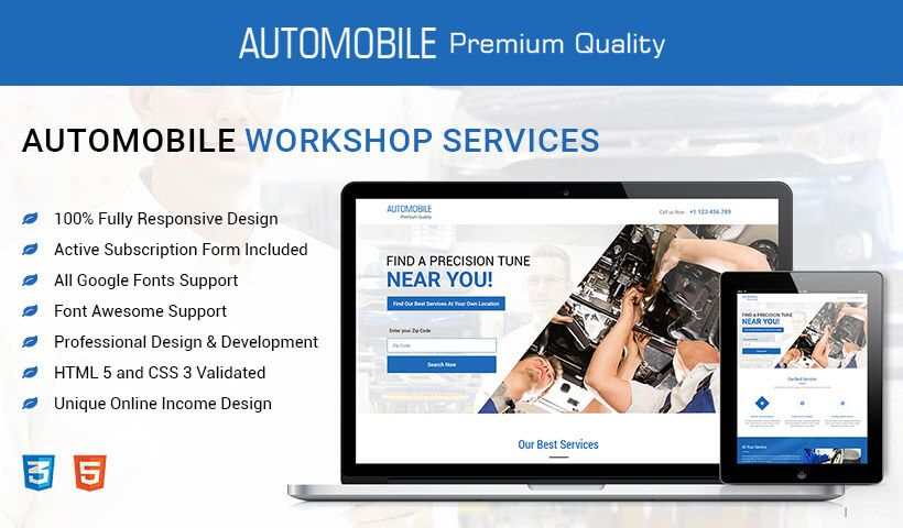 Purchase And Download Auto Repair Business Landing Page To Increase Traffic And Leads Of Your Auto Workshop Servic Landing Page Design Page Design Landing Page