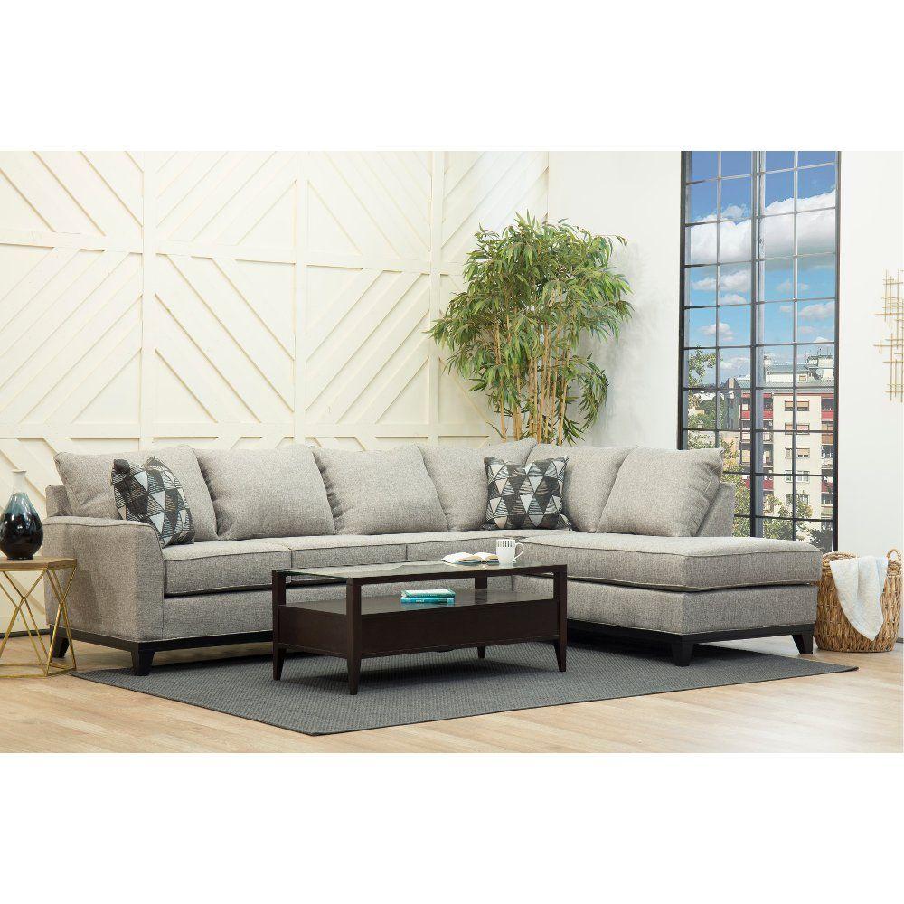 casual contemporary slate gray 2 piece sectional sofa emerson rh pinterest com