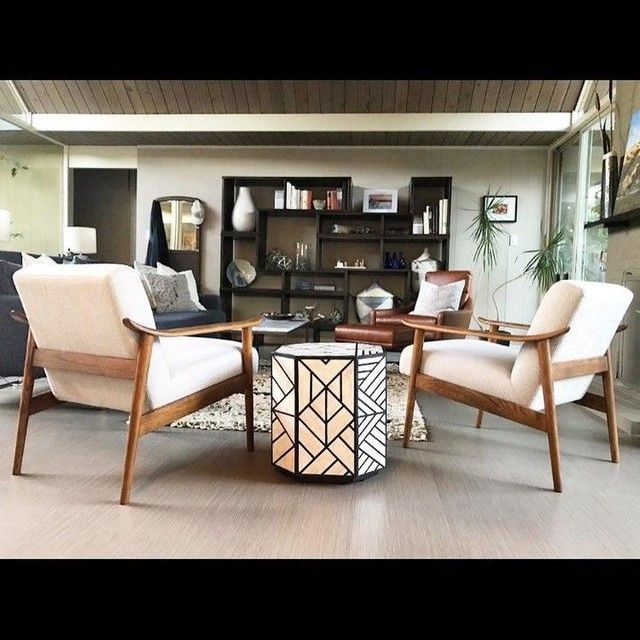 mid century show wood chair havenly dad s house living room rh pinterest com