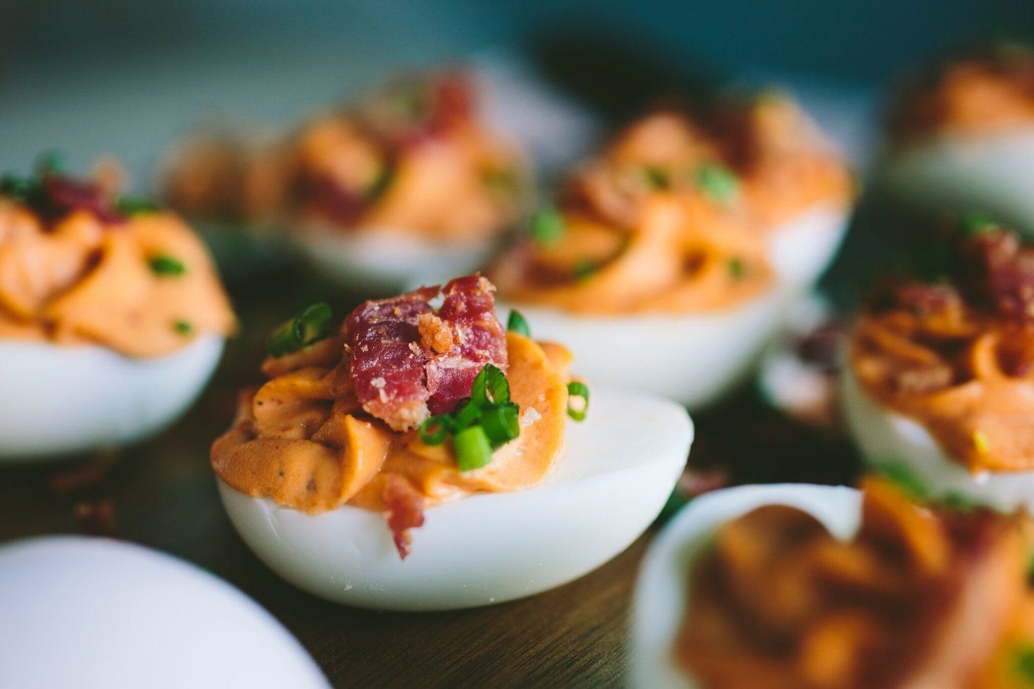 Bacon Sriracha Deviled Eggs With Images Sriracha Deviled Eggs