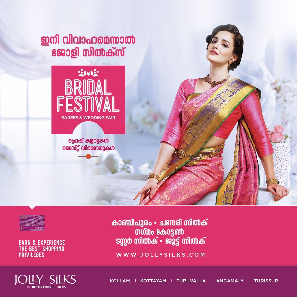 Jolly Silks Presents BRIDAL FESTIVAL! Fresh Colours & Best Designs ...