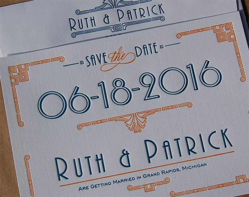 Deco Wedding Invitations Image result for