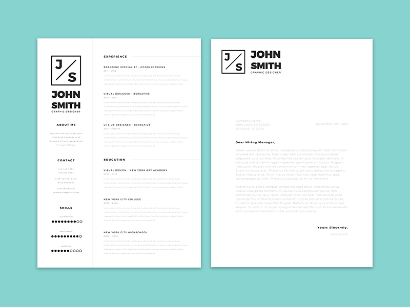 Be One Step Closer To Landing Your Dream Job By Presenting Yourself As  Someone Who Matters With Minimalistic Resume Template. With A Strong  Emphasis On ...