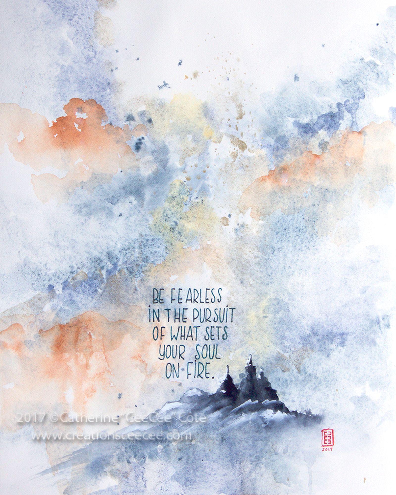 Be Fearless Art Art Prints Illustration Art