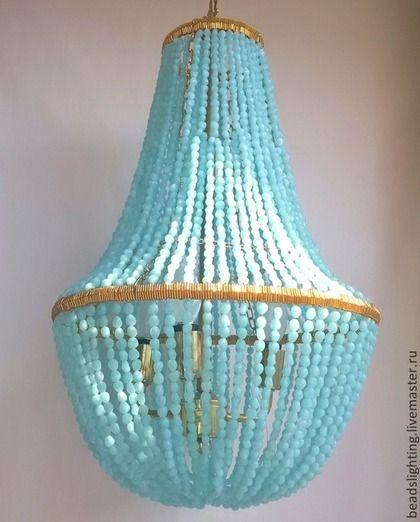 Потолочный светильник из бусин в стиле ретро и такой модный сегодня!  Выполню по Вашим размерам.